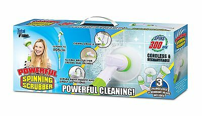Turbo Spin Scrub Cleaning Brush Mop Scrubber Bath Tile Floor High Deluxe Home AU