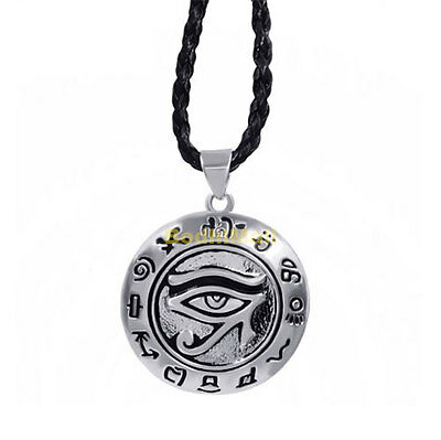 Egyptian Eye of Ra Horus with Rope Necklace