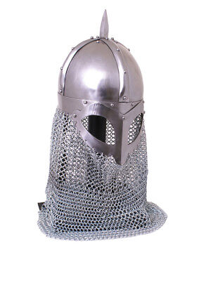 Viking spectical helmet, 2mm (14G) steel, with lining battle ready
