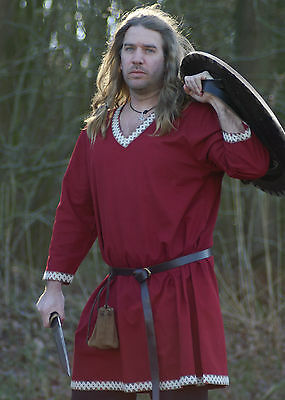 Viking Tunic from Cotton, dark red - medieval - living history - LARP
