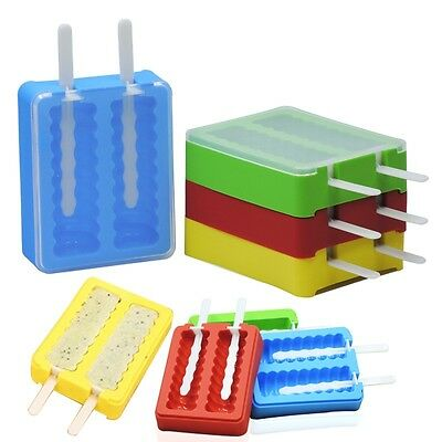 Silicone DIY Popsicle Mold Pop Maker Lolly Tray Pan Mould Frozen Ice Cream Tool