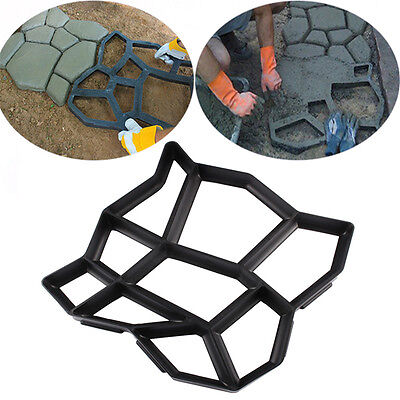 Path Walk Maker Mould Pavement  DIY Garden Path Paving Mold 43.5*43.5*3cm