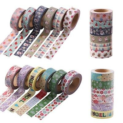 10M Roll DIY Self Adhesive Cartoon Washi Paper Masking Tape Sticker Craft Decor
