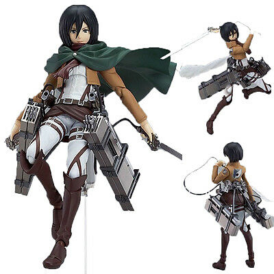 Attack On Titan Action Figure Shingeki No Kyojin Mikasa Ackerman PVC Toy Gifts