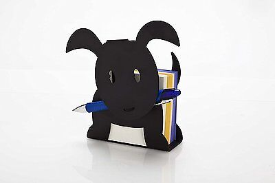 ARTORI Design Ringo Puppy Black Metal Memo Notes Pen Holder Desk Office Gift