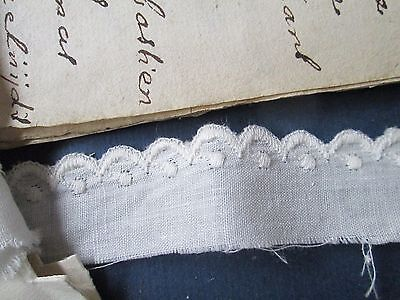 Vintage Eyelet lace  white cotton/.for dolls Austria