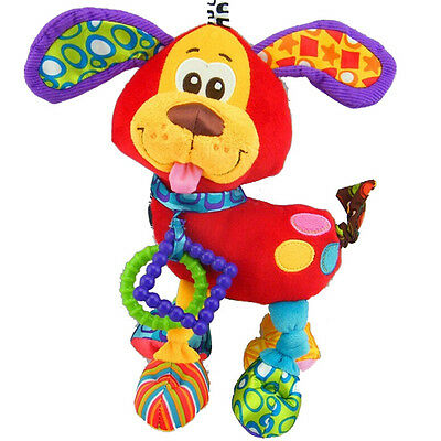 Toy Dog 1 PC Crib Stroller Soft Rattles Bed Music  Bell Baby Infant Animal
