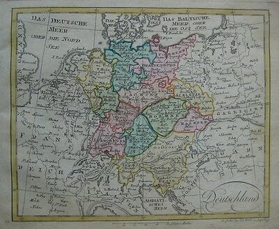 Original 1803 Johann Walch Map GERMANY Deutschland Bavaria Bohemia Saxony Berlin