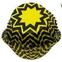 Chevron Yellow and Black Baking Cups - 50 Pack