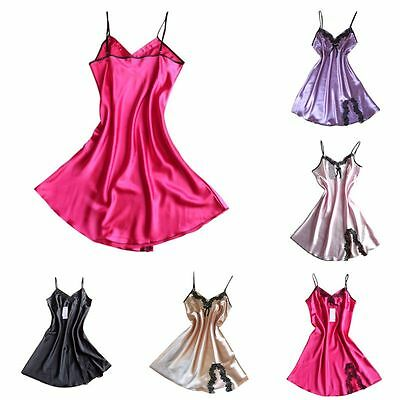 Hot Femme Silk Lace Nuisettes chemise de nuit Lingerie Babydoll Nightdress Robe