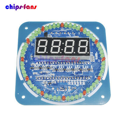 DS1302 Rotating LED Display Alarm Electronic Clock Module Temperature Display 5V