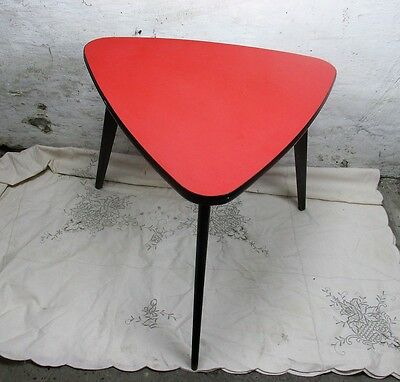 Retro Tripod Coffee Table Side Table Atomic Mid Century Modern Funky Rockabilly