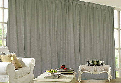 Blockout Curtain 530x230cm PINCH PLEAT 2 panel Blackout High Level Fabric