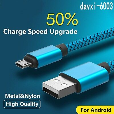 1-3M Data Sync Fast Charging Charger Cable Micro USB Cord For Samsung Android d6