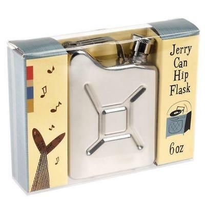 Jerry Can 6oz Stainless Steel Hip Flask