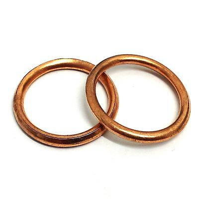 6mm to 27mm Internal Diameter Copper Compression Washers - Oil Seal Crush Sump