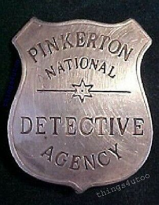 Pinkerton Detective Agency obsolete silver badge #BW27