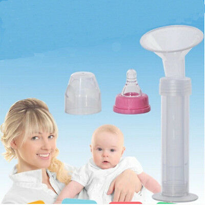Operate  Suction Manual Breast Pump Easy  Milking Tool Needle Tube Baby 1 Set