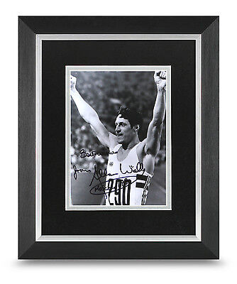 Allen Wells Signed 10x8 Photo Display Framed Olympics Memorabilia Autograph +COA