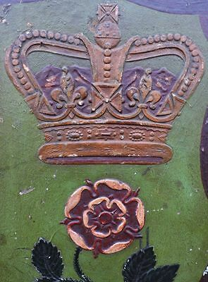 19th Century English Antique Carved Pine Pub Sign for the Rose & Crown