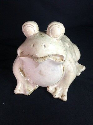 Large Vintage Garden Yard Home Ceramic Toad Frog Statue Awesome Expression