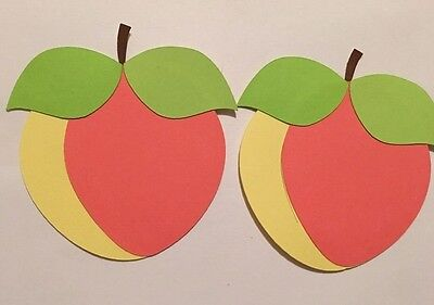 Watermelon Die Cut Punchie Embellishment Handmade With Card Stock Set Of Two