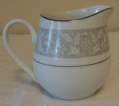 "Gray & White Cream Pitcher 3.75"" Imperial China by W. Dalton ""Whitney"" 5671"