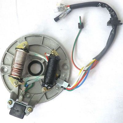ATV QAUD STATOR IGNITION MAGNETO PLATE 70 90 125 110cc DIRT BIKE GO KART