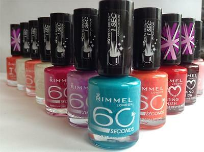 Rimmel London Nail Polish Varnish 60 Seconds 8ml New OTHER RANGES IN SHOP!