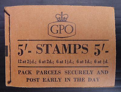 GB 1955 July Wilding 5/- Booklet H16 NB2100