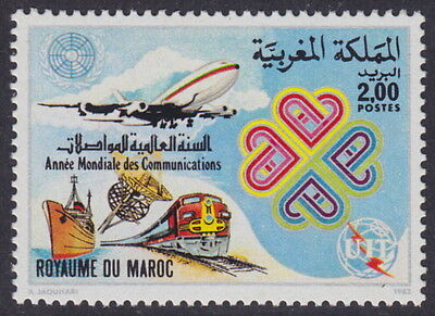 MOROCCO - 1983 World Communications Year (1v) - UM / MNH