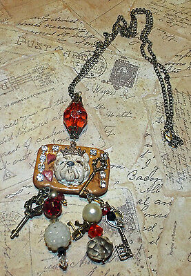 Charms Vintage Glam Style West Highland White Terrier Dog Westie Necklace