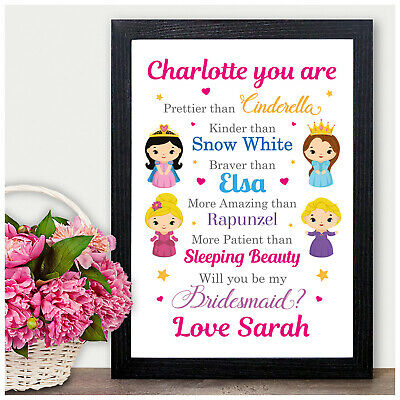 Will You Be My Bridesmaid Maid of Honour Wedding Plaque Gift Personalised