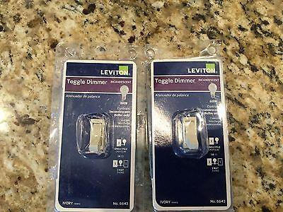New leviton 6643 i toggle dimmer 3way ivory 975 picclick leviton 6643 i incandescent toggle dimmer 3 way ivory lot of sciox Choice Image