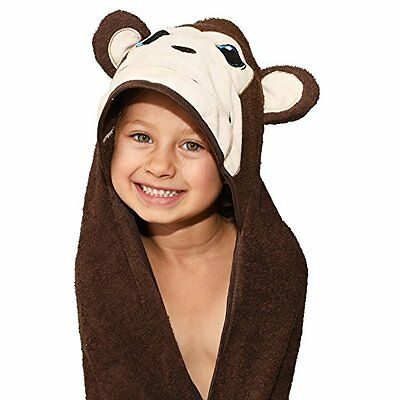 Plovf Monkey Hooded Baby Towel for Girl,Boy,Toddler,Newborn,Infant and Kid