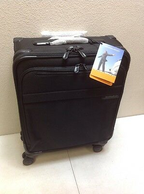 Briggs & Riley @ Baseline Luggage Baseline Domestic Carry-On Spinner Bag, Black,