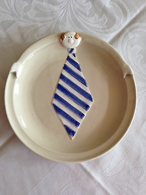 """Fitz and Floyd """"Archie"""" Plate 1977 Father's Day Gift RARE"""
