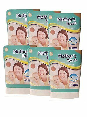 Mother's Touch Disposable Diaper Economy Pack Plus- Size 3 (Medium) 6 Bags/Pack