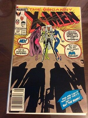UNCANNY X-MEN #244 Signed by CHRIS CLAREMONT 1st App of Jubilee