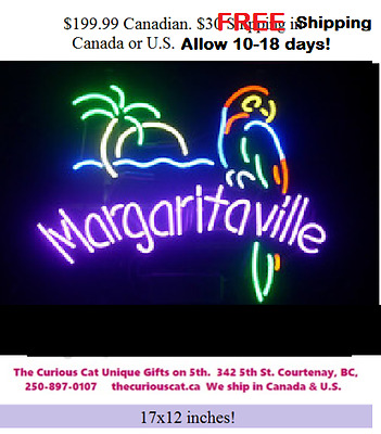 Jimmy Buffett Margaritaville Neon Sign in Canada FREE Shipping in Can or U.S.