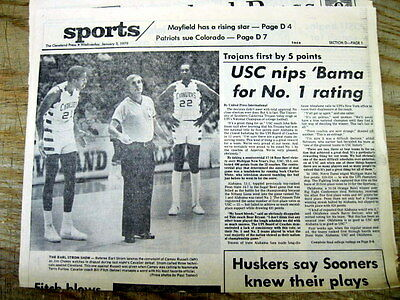 1979 newspaper USC Trojans win ROSE BOWL & are named # 1 COLLEGE FOOTBALL TEAM