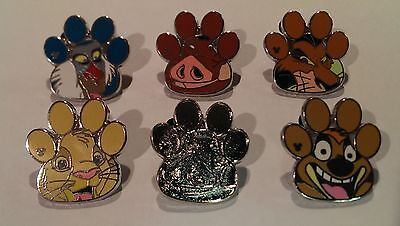 Disney Trading Pins-2017 WDW H.M.-The Lion King Characters-6pc Set.