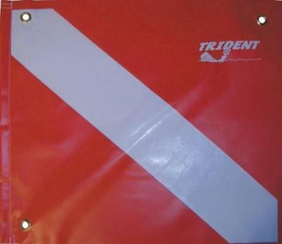 Trident 14in x 16in Vinyl Dive Flag with Brace for Scuba Diving or Snorkeling