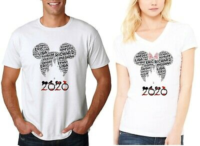 2018 New Wordart Disney Castle Family Vacation T-Shirts With Custom Names