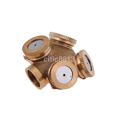 1-4 Hole Garden Tap Spray Misting Nozzle Pressure / Gold Brass Hose Pipe Fit AU