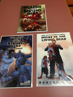 Living Dead Comic book lot of 3, Night of the, Plague of the