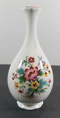 "Coalport Footed 6"" Bud Vase/Ming Rose Pattern/Bone China/Vintage"