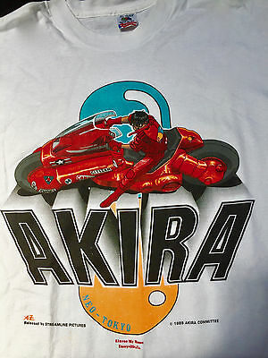 Akira Vintage Clothing 1989 Adult X Large T-Shirt Anime Fashion Rare Cyberpunk