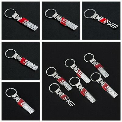 Metal Car Logo keyring Pendant key chain Holder For AUDI RS S3 S4 S5 S6 S Line