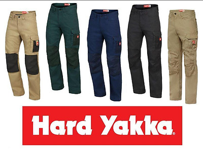 NEW HARD YAKKA LEGENDS TROUSER PANTS  Y02202 ALL SIZES Work Navy Khaki Black Gre